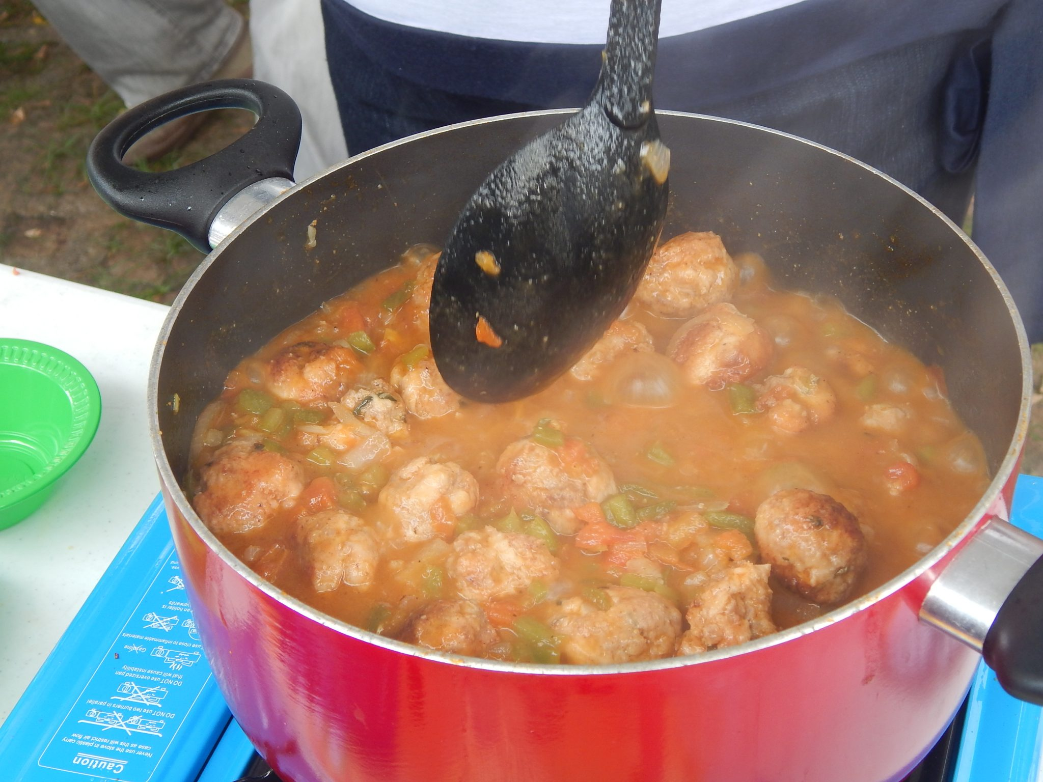 Meatballs in vegetable sauce