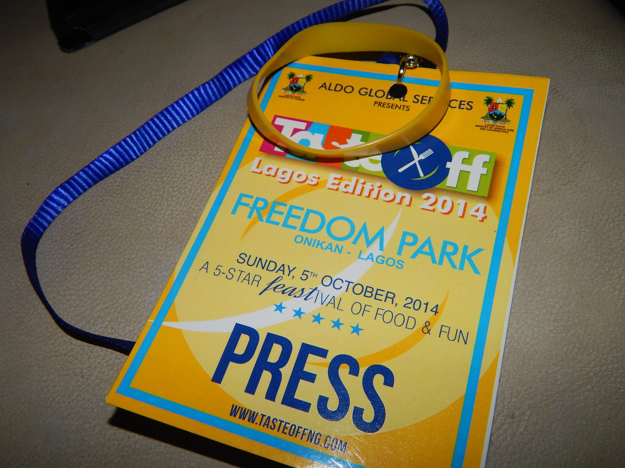 Did I forget to mention I got a press tag along with my VIP band?  :-)